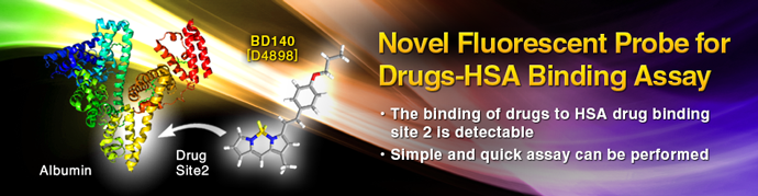 Novel Fluorescent Probe for Drugs-HSA Binding Assay