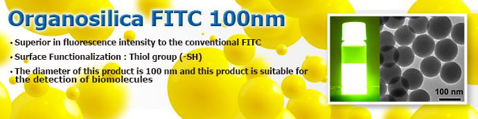 Fluorescent Organosilica Nanoparticle: Organosilica FITC 100nm