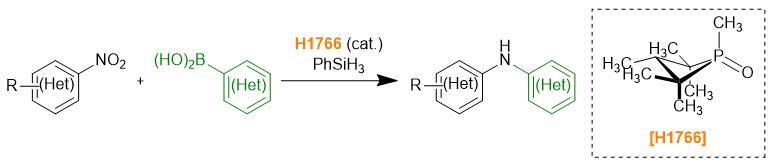 Deoxygenative C-N cross coupling of nitroarenes with boronic acids