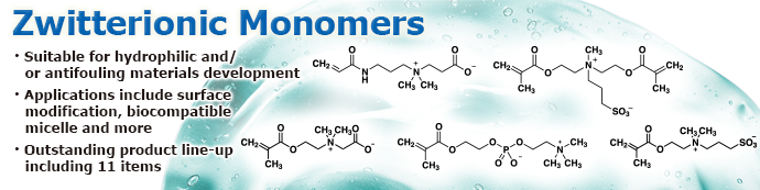 Zwitterionic Monomers Suitable for Biocompatible Polymer Synthesis