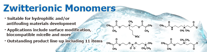 Zwitterionic Monomers Suitable for Biocompatible/Superhydrophilic Polymer Synthesis