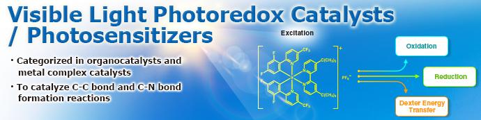 Visible Photoredox Catalysts/Photosensitizers