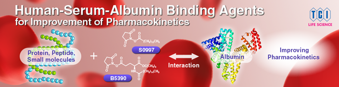 Human-Serum-Albumin Binding Agents for Improvement of Phrmacokinetics