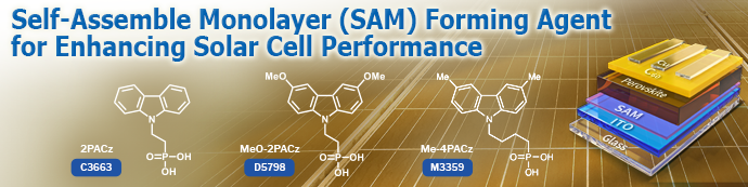 Self-Assembled Monolayer (SAM) Forming Agents for Enhancing Solar Cell Performance