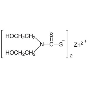 Bis(2-hydroxyethyl)dithiocarbamic Acid Zinc(II) Salt