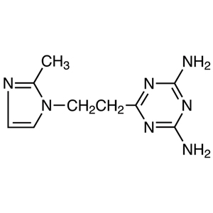 2,4-Diamino-6-[2-(2-methyl-1-imidazolyl)ethyl]-1,3,5-triazine