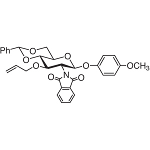 4-Methoxyphenyl 3-O-Allyl-4,6-O-benzylidene-2-deoxy-2-phthalimido-β-D-glucopyranoside